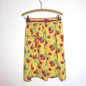 Vintage strawberry apron free-size